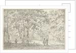 Hikers in a park in Zeist by Johannes de Bosch
