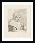 Portrait of an old woman by Pieter Christoffel Wonder