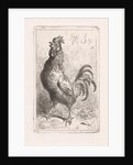 Crowing cock by Jan Gerard Smits