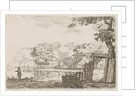 Landscape with fisherman by Jacob Cats