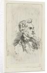 Portrait of artist Frederik Hendrik Weissenbruch by Bernardus Johannes Blommers