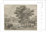 Landscape with classical ruins by Abraham Genoels