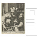 Jester with wine cask by Anonymous
