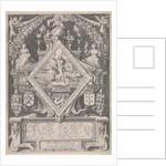 New Year Postcard from the Haarlem Chamber of Rhetoric The Wijngaertrancken by Jacob Matham