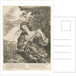 July: a woman harvesting by Joachim von Sandrart