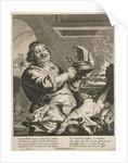 Cook with pie by Joachim von Sandrart