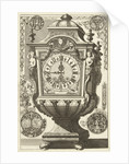 Clock in the form of a rectangular urn, Daniël Marot (I) by Anonymous