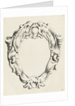 Cartouche with lobe ornament, above and below a mask with gaping mouth by Clement de Jonghe