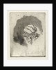 Study Sheet with the head of an eating girl in profile to the left by Louis Bernard Coclers