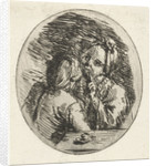 Man and woman talking by Louis Bernard Coclers