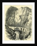 The Devil's Bridge on the St. Gothard Road Switzerland by Anonymous