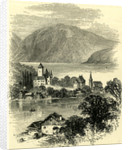 Castle of Spietz Lake of Thun Switzerland by Anonymous