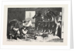 Cavalry Transport by Rail, Interior of a Stable-Wagon 1870 by Anonymous