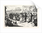 Arrival of a Convoy of French Prisoners at the Station West Berlin Germany 1870 by Anonymous