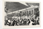 French Prisoners of War at the Station in Munich Germany, 10 August 1870 by Anonymous