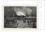 Burning of the Scarborough Spa Saloon by Anonymous
