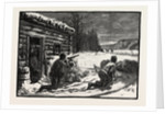 A Settler's Shanty, Lumbering, Canada by Anonymous