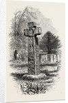 Cross at Eyam, Derbyshire, England by Anonymous