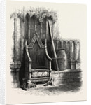 Coronation Chair, with Sword and Shield of Edward III., Westminster Abbey, London by Anonymous