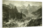 Austria Mountains 1891 by Anonymous