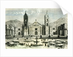 Arequipa Square and Cathedral 1869 Peru by Anonymous