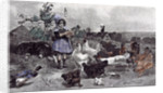 A Morning Call Chicken A.W. Strutt Child 1891 by Anonymous