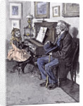 Girl at the Piano in 1891 by Anonymous