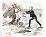 A Maiden in Distress in Hastings Britain 1892 by Anonymous