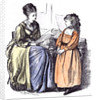 Girl and New Governess Du Maurier 1874 by Anonymous
