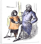 Girl with Grandfather 1873 by Anonymous