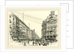 Broadway, showing Astor house and the post office, US, 19th century by Anonymous