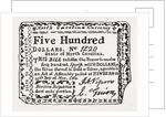 Fac-simile of North Carolina Shin-plaster, 1780 by Anonymous