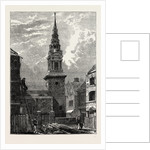 St. Bride's Church, Fleet Street, After the Fire, 1824 by Anonymous