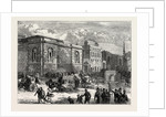 Front of Newgate from the Old Bailey by Anonymous