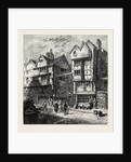 Old Houses Formerly Standing in Butcher's Row, 1800 by Anonymous