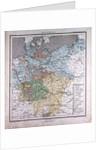 Germany, antique map 1869 by Th. von Liechtenstern and Henry Lange