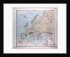 Europe, antique map 1869 by Th. von Liechtenstern and Henry Lange