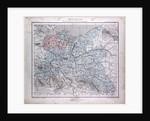 Germany, Deutschland, antique map 1869 by Th. von Liechtenstern and Henry Lange