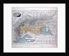 Alps, Alpengebiet, antique map 1869 by Th. von Liechtenstern and Henry Lange