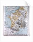 Europe, France, Belgium, The Netherlands, antique map 1869 by Th. von Liechtenstern and Henry Lange