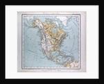 North America Map, antique map 1869 by Th. von Liechtenstern and Henry Lange