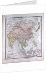 Asia, antique map 1869 by Th. von Liechtenstern and Henry Lange