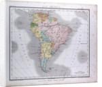South America Map, antique map 1869 by Th. von Liechtenstern and Henry Lange