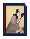 Kuchi-beni,Painting the lips by Utamaro Kitagawa