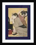 Kami-yui, Dressing the hair by Utamaro Kitagawa