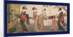 Arai-bari, Washing and stretching cloth by Utamaro Kitagawa