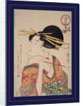 Kiseru o motsu onna, Woman holding a pipe by Utamaro Kitagawa