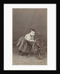 Portrait of a small child by J. Baer