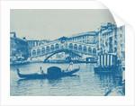 Grand Canal, Rialto bridge and gondola, Venice, Italy by Anonymous
