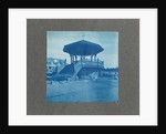 Wooden bandstand with stairs and wind vane, USA by Anonymous